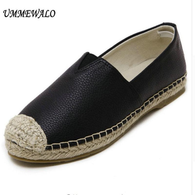 Bout Chaussures Rond Femmes Plat Appartements Espadrilles Dames Mocassins Casual Femme Ummewalo P6Xqw7