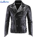 Brand Clothing Cool Fashion Party Essential Leather Motorcycle Jacket High Quality Leather Coat Plus Size