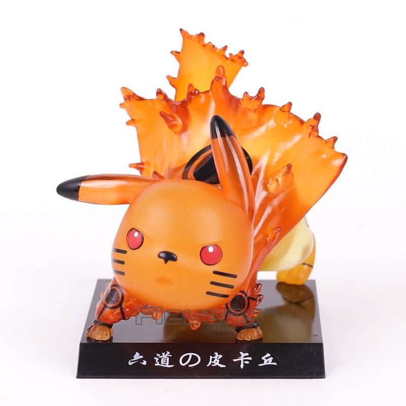 Pikachu Cosplay NARUTO Kurama PVC Figure Collectible Model Toy Brinquedos