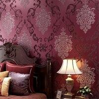3D Relief 3D Wallpaper Continental Damascus Bedroom Living Room Background Wall Paper Home Decor Papel De