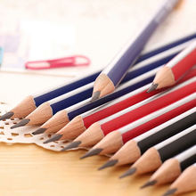 12 шт/компл карандаши deli standard hb2b треугольные с ластиком