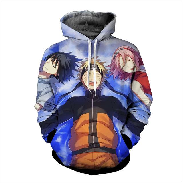 New Design Naruto & Friend 3D Hoodie