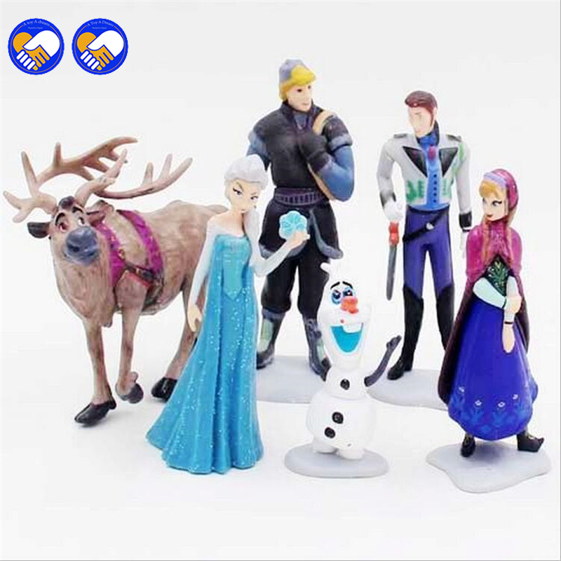 A toy A dream Kawaii Gifts Action Toy Figures 6 Pcs/Sets Elsa And Anna PVC Toys Anime Generation Model Toy Collection Gift puppy canina juguetes towerbig toys russian anime doll action figures car parking puppy dog toy gifts everest dog children gifts