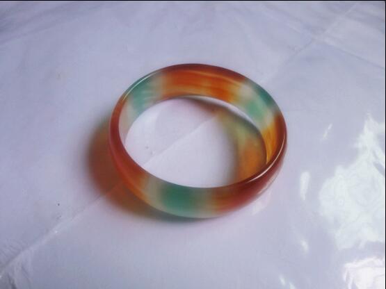 Natural jadeite jewelry children bracelet crystal chalcedony colorful bracelet