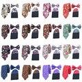 Мужчины Цветочный Bowties Платок Шеи Галстуки Цветочные Карманный Площадь Свадебный Комплект НОВЫЙ BWTST0109