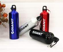 New Free Shipping 750ml GIANT Cycling Bike Outdoor Sports Water Bottle Bicycle Aluminum Alloy Water Bottle 4Color