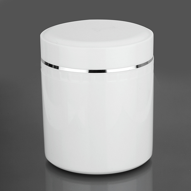 20pcs 500ml white pp cosmetic pot air tight jar. Black Bedroom Furniture Sets. Home Design Ideas