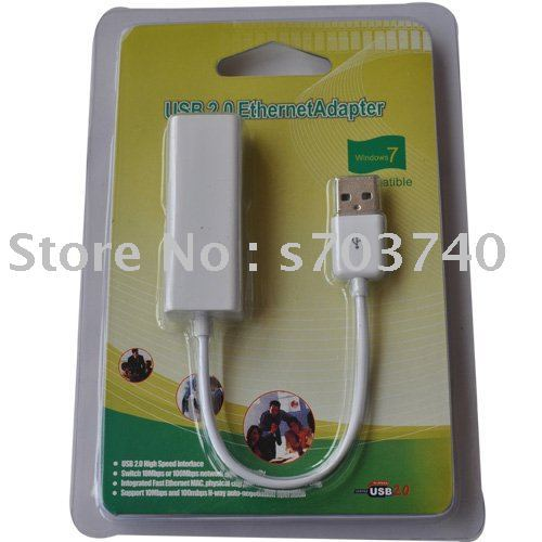 USB 2.0 Ethernet 10/100 RJ45 Network LAN Adapter Card support windows7,MAC,Linux OS