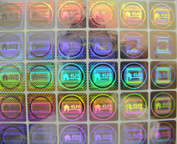 Hologram printing stickers counterfeit wallet