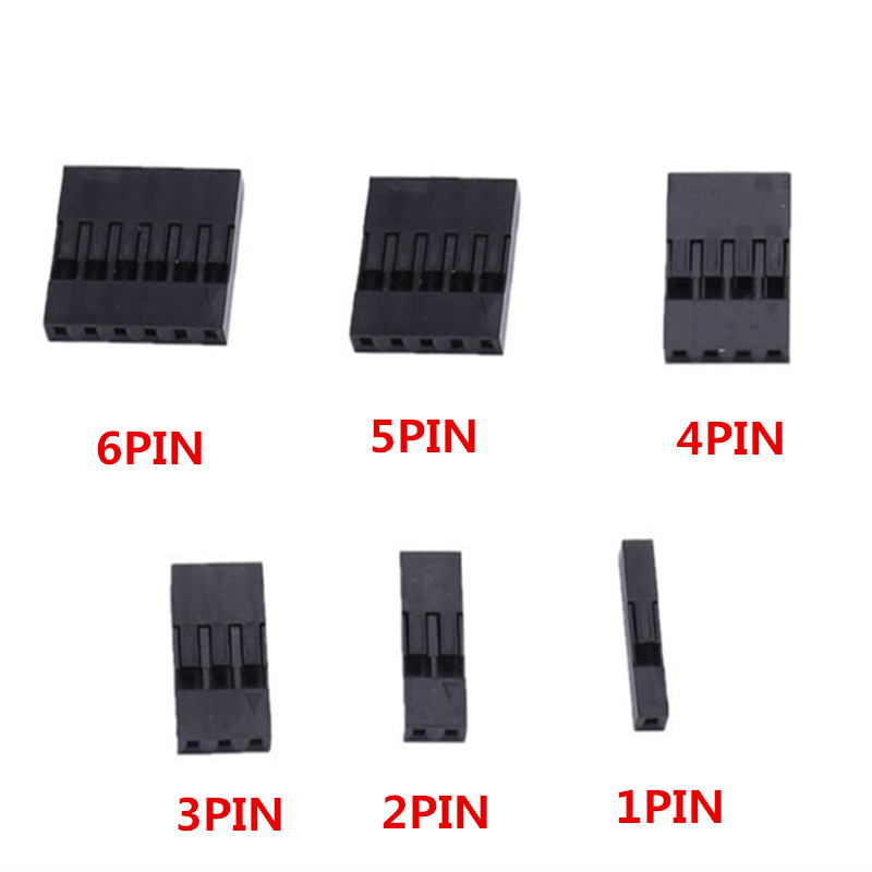 50Pcs 2 54mm Male and Female Dupont and Servo Crimp Wire Jumper Pin Header Connector Terminal Pins Crimp in Terminals from Home Improvement