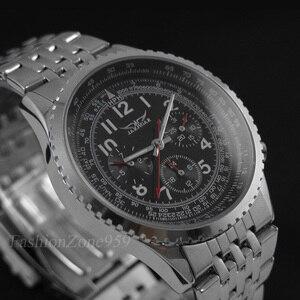 Image 2 - Original jaragar relógios masculinos militar aço completo automático auto vento relógio de pulso masculino mecânico de luxo