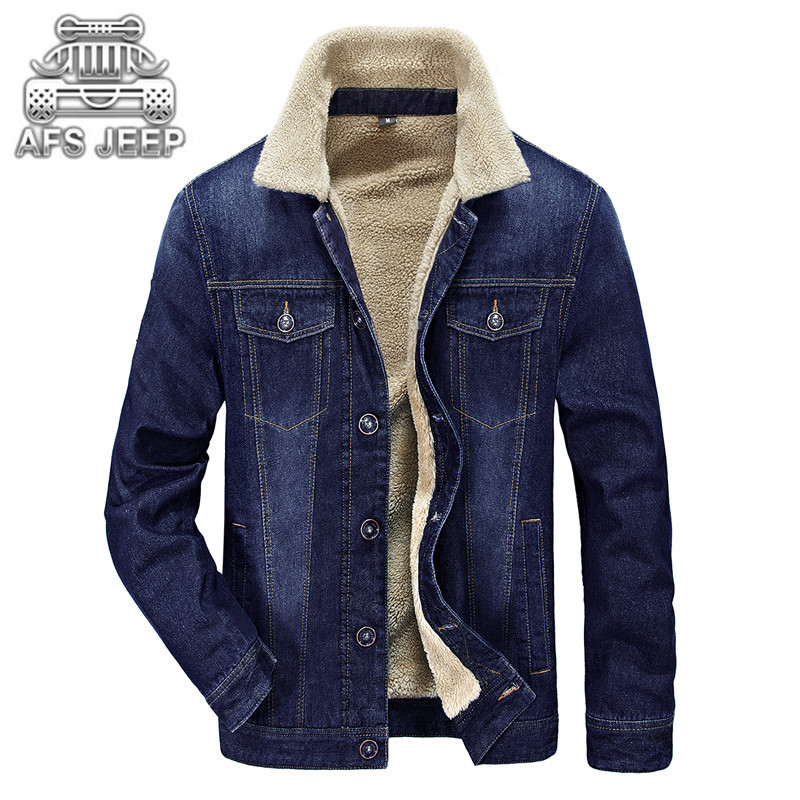 Original Brand AFS JEEP Winter Men Jackets Jeans New 2018 Warm Thick Coat Fur inside Windbreak Comfortable Soft Material Clothin ...