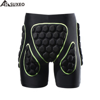 2017 ARSUXEO Mens Outdoor Sports Cycling Downhill MTB Shorts Protective Padded shorts for Skiing Snowboarding