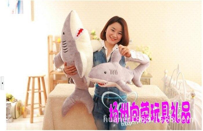120 cm-baleine requin jouet poupée bébé dessin animé grande poupée petite amie cadeaux énorme animal en peluche - 2
