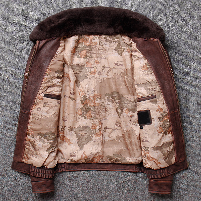 Brand new winter warm.Classic G1 style mens leather jacket,vintage cowhide Jackets,man genuine leather coat