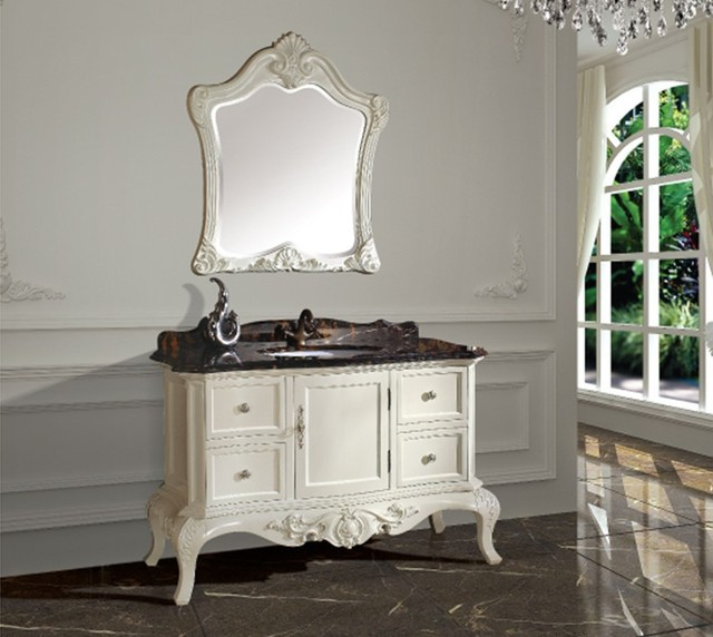 US $787.5  Neue ankunft antike badezimmerschrank mit spiegel und  waschbecken zähler top klassische badezimmer eitelkeit in Neue ankunft  antike ...
