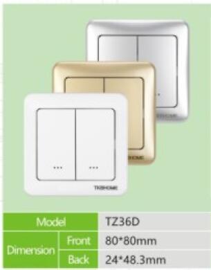 5 pcs/lot Z Wave EU 868.42 MHz Dual 2 way Wall ON/OFF switch TZ36 D ...