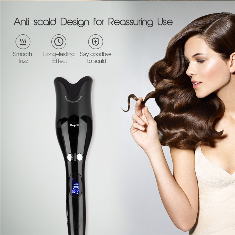 Automatic Air Spin Curler Ceramic Wave Care Styling Tools Magic Instant Spiral Large Hair Waver Curling Iron with LED DisplayAutomatic Air Spin Curler Ceramic Wave Care Styling Tools Magic Instant Spiral Large Hair Waver Curling Iron with LED Display