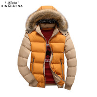 2017 Thick Winter Jacket Fashion Brand Clothing Men Coat With Fur Hooded Outwear Thickened Warm Fur