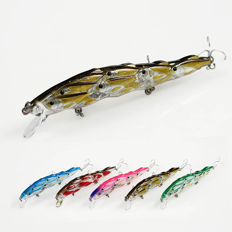 1pcs/pack 15g 12cm multi-profile big minnow fishes group bionic bait multi-fish body plastic fishing lures hard fishing tackle ...