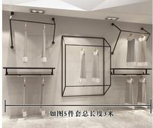 Clothing store display rack wall. Men's and women's shop walls hang shelves .88013 цена