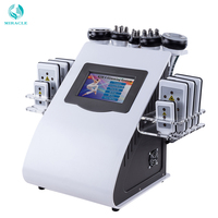 2019 New Arrival !6 In 1 40K Ultrasonic Cavitation Vacuum Radio Frequency Laser 8 Pads lipo Laser Slimming Machine for home use