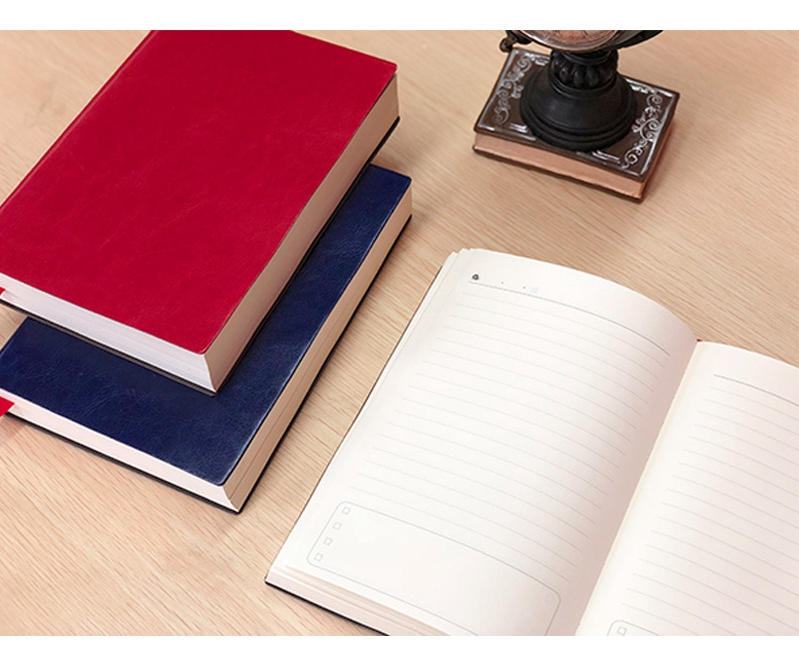 A4 A5 Thick Diary Book Soft PU Cover Lined Paper Notebook 512P School Office Study Supplies Free Shipping