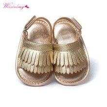 WEIXINBUY сандалии для девочек Летняя детская обувь повседневная модная детская обувь для девочек сандалии для девочек PU бахрома детские сандалии 9 цветов