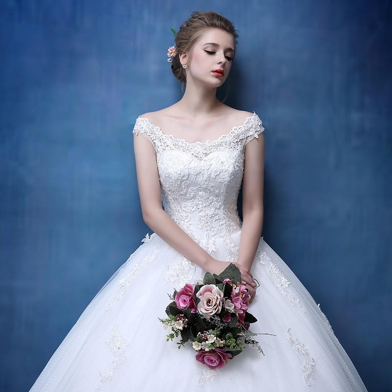 Bridal Lace Tulle A Line Bröllopsklänningar Ärmlös - Bröllopsklänningar - Foto 4