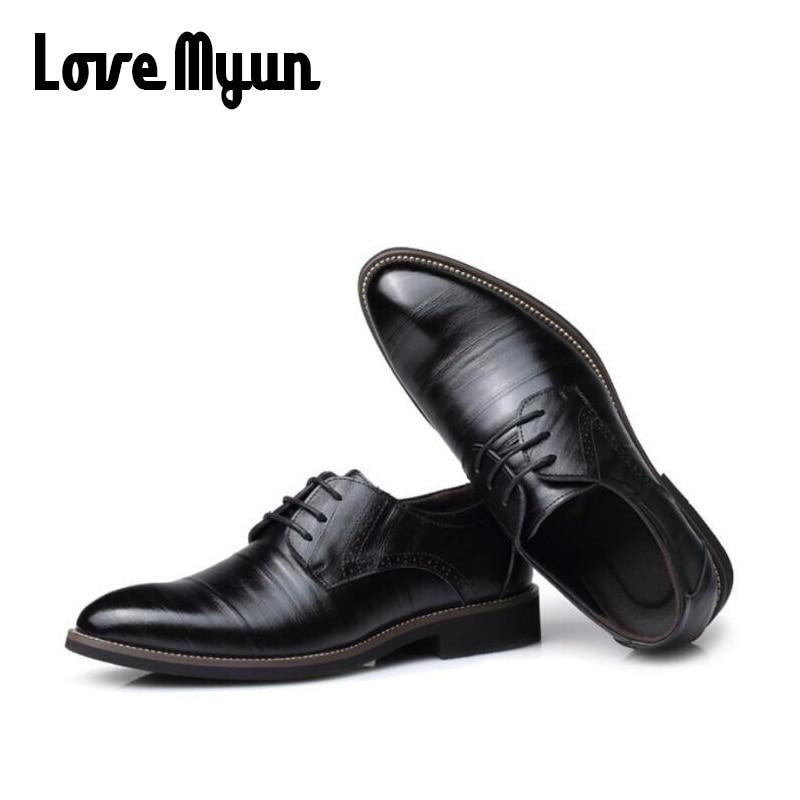 Erkek hakiki deri ayakkabı erkek elbise ayakkabı İş düğün - Erkek Ayakkabıları - Fotoğraf 3