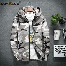 Covrlge Dropshipping Jackets Men Camo 2018 New Autumn Hip Hop Slim Fit Coat Mens Camouflage Hooded MWJ138