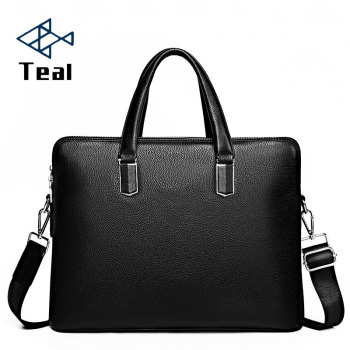 Men Leather Briefcases Bags Business zipper Shoulder Crossbody Genuine Handbag Messenger Laptop bags for Male Travel Mens Bag