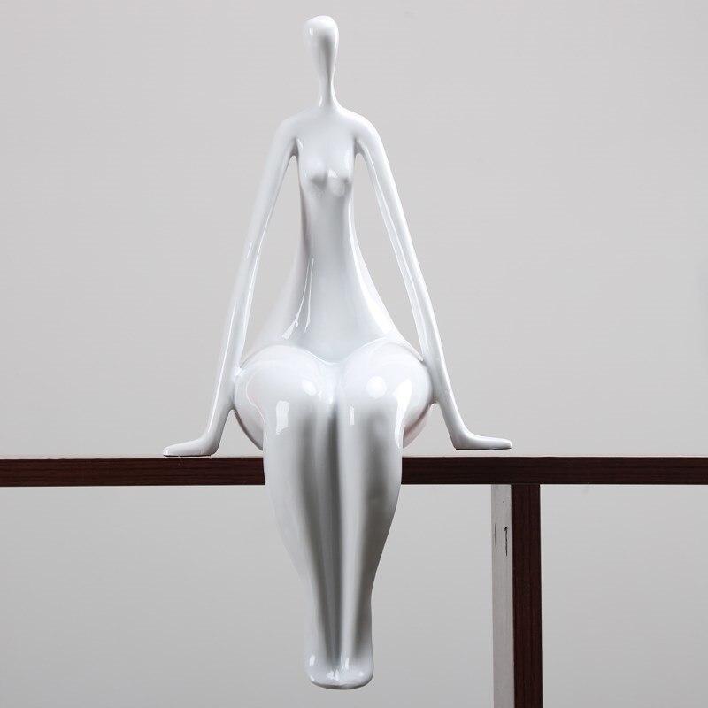 Moderne abstrait femme nue Sculpture résine corps Art modèle Figurine personnage Statue artisanat décor à la maison accessoires LW4271112