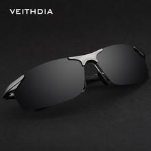 VEITHDIA Vintage Aluminum Magnesium Polarized Sunglasses Men Glasses Brand Sports Driving UV400 Sun Glasses male mens 6529