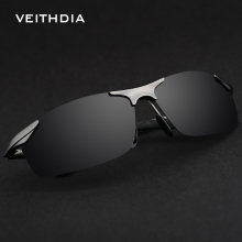 VEITHDIA Vintage Aluminum Magnesium Polarized Sunglasses Men Glasses Brand Sports Driving UV400 Sun Glasses male mens 6529