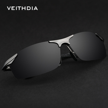 Фотография VEITHDIA Aluminum Magnesium Polarized Sunglasses For Men Brand Designer Driving Glasses 2017 Summer New Men
