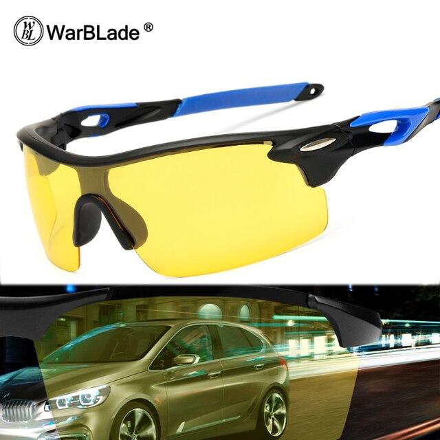 735b31146d906 WarBLade 2018 Nova Noite Óculos de Visão Polarizada Óculos De Sol Dos Homens  de Condução Óculos