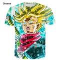 Anime Dragon Ball Z Goku Vegeta Super Saiyan 3D t shirt camiseta broli impresiones camisetas hombres mujeres moda galaxy t shirts hip hop tee