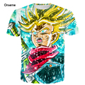 Anime Dragon Ball Z Super Saiyan 3D t shirt tees Goku Vegeta Broli Prints tshirts Men Women Fashion Galaxy t shirts Hip Hop Tee