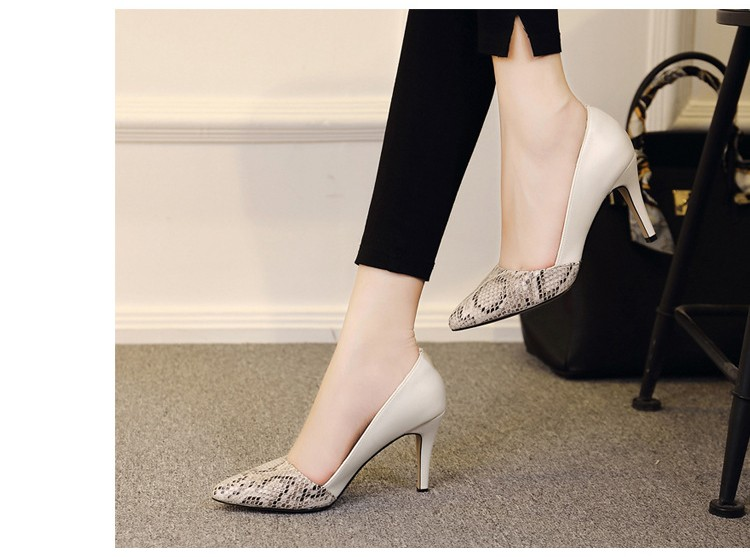 comfortable high heels pointed toe high quality snake grain elegance shoes - free shipping! Comfortable High Heels Pointed Toe High Quality Snake Grain Elegance Shoes – Free Shipping! HTB1rxIXNXXXXXbCXXXXq6xXFXXXK