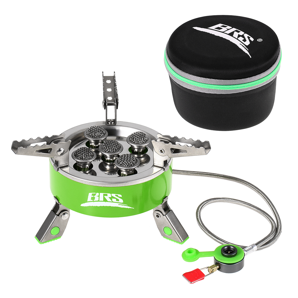 BRS Outdoor 7000W Folding Gas Stove Camping Hiking Picnic Foldable Stove Equipment Stainless Steel Gas Stove