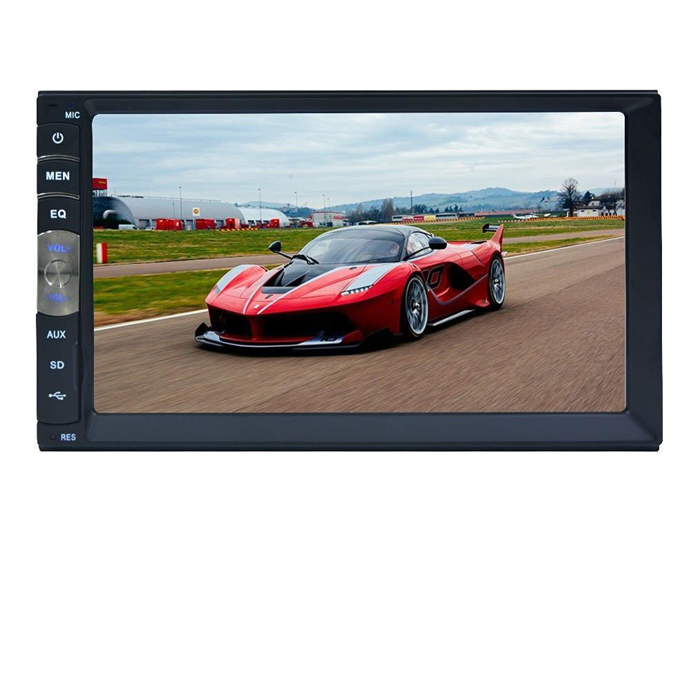 Universel 7 pouces 2 DIN voiture Audio stéréo lecteur 7018B écran tactile voiture vidéo MP5 lecteur TF SD MMC USB FM Radio mains libres appel