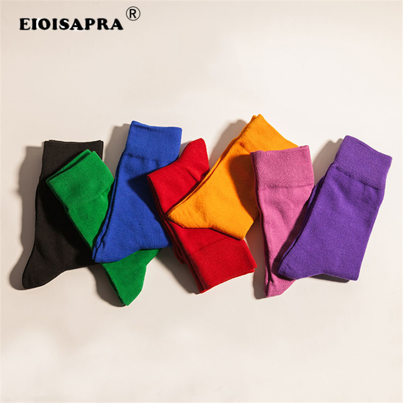[EIOISAPRA] Korea Style Candy Cotton   Socks   Women Cute Short Ankle   Socks   Yellow Blue Purple Green Red Black   Socks   For Girls Gift