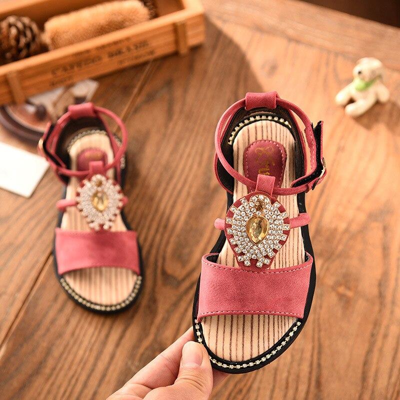 Compra girls sandals gladiator rhinestone y disfruta del envío gratuito en  AliExpress.com ac9ee8729dae