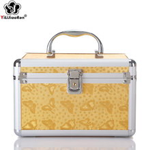Fashion Animal Prints Cosmetic Case Large Capacity Make Up Bags Famous Brand Leather Box Portable Travel Bag
