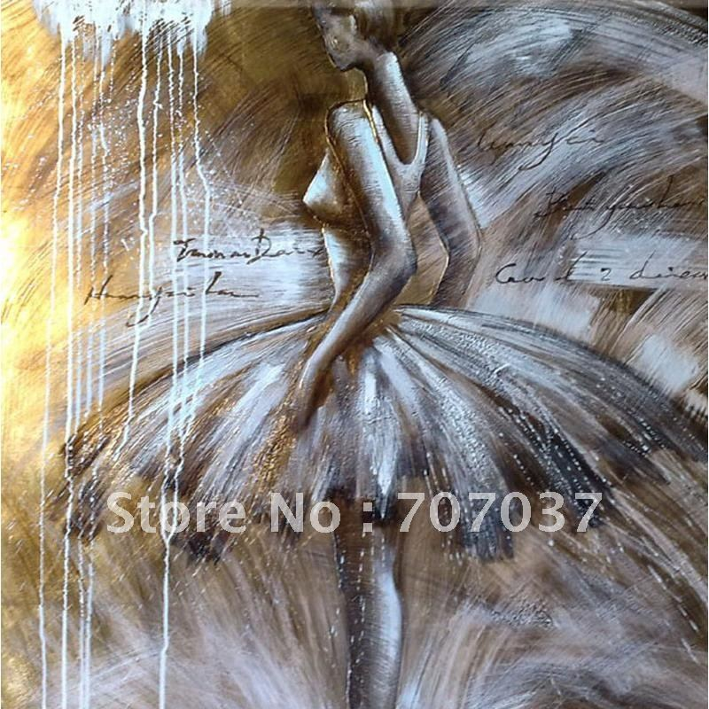 modern abatract art ballet dancer oil paintings on canvas for sale all sizes avaliable in. Black Bedroom Furniture Sets. Home Design Ideas