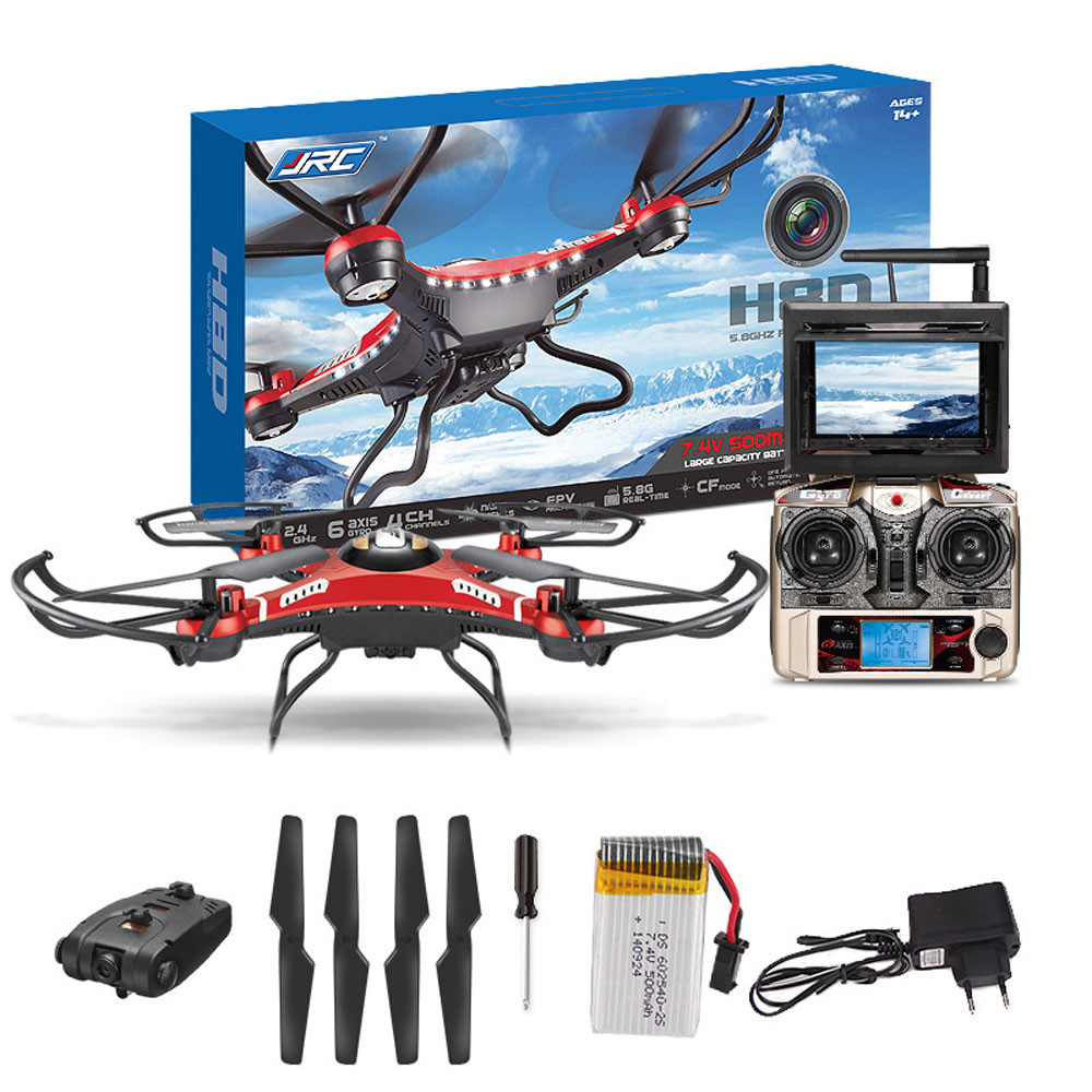 Cheap selling 2017 JJRC H8D 6-Axis Gyro 5.8G FPV RC Quadcopter Drone HD Camera+Monitor+2 Battery Dropship Y7922* original jjrc h28 4ch 6 axis gyro removable arms rtf rc quadcopter with one key return headless mode drone
