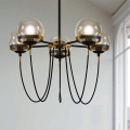 Magic beans DNA Lustres wrought iron industrial Cafe project 5 lamps Nordic Art Deco glass ball LED pendant hanging lights