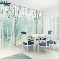beibehang Custom Mural House Lounge Wall Decorative Wallpapers Hand Painted Dream Trees Flying Birds TV Walls
