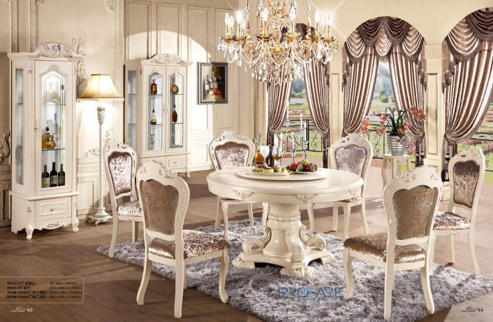 European Style Oak Solid Wood Dinning Room Furnitu